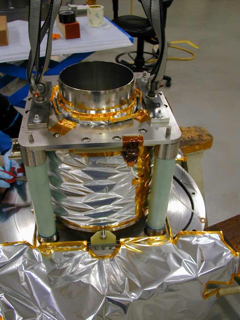 cryogenic tank close up