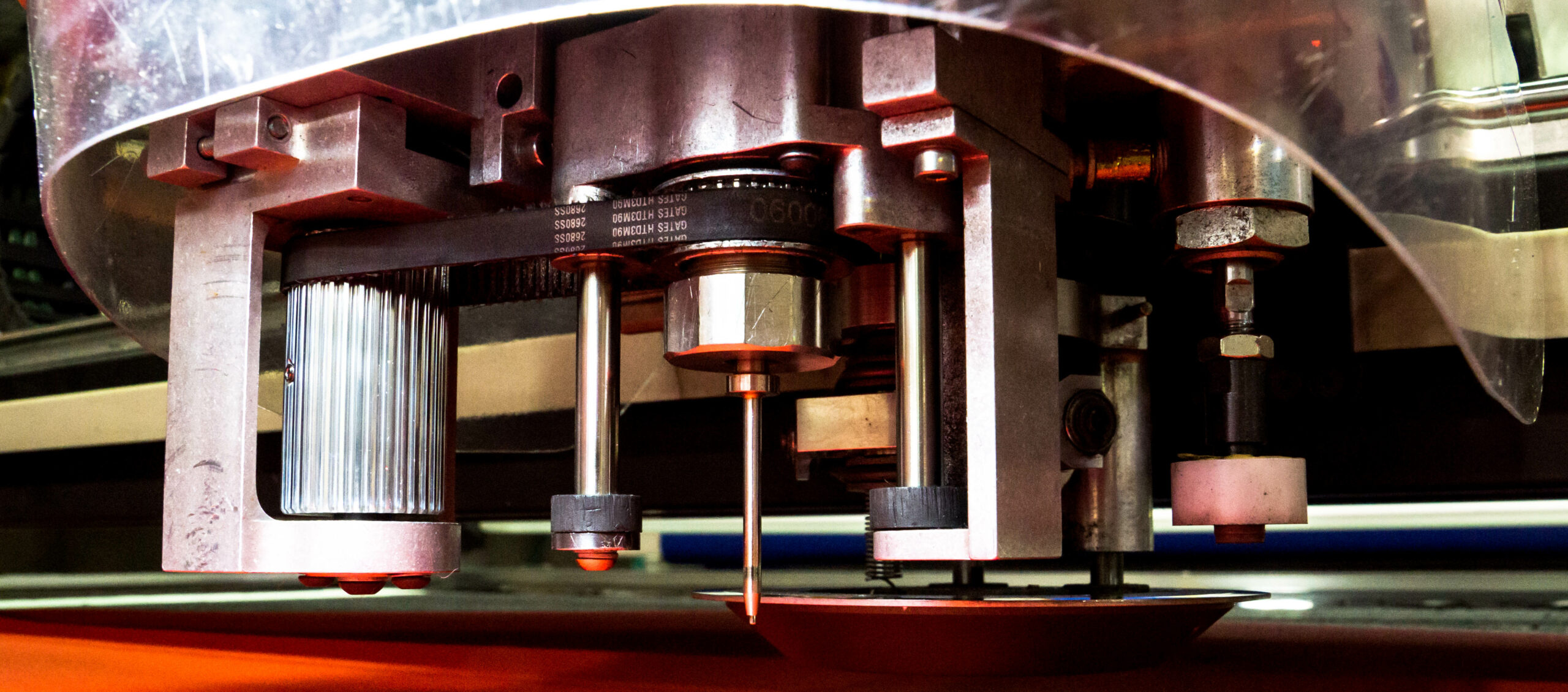 CNC cutting in process