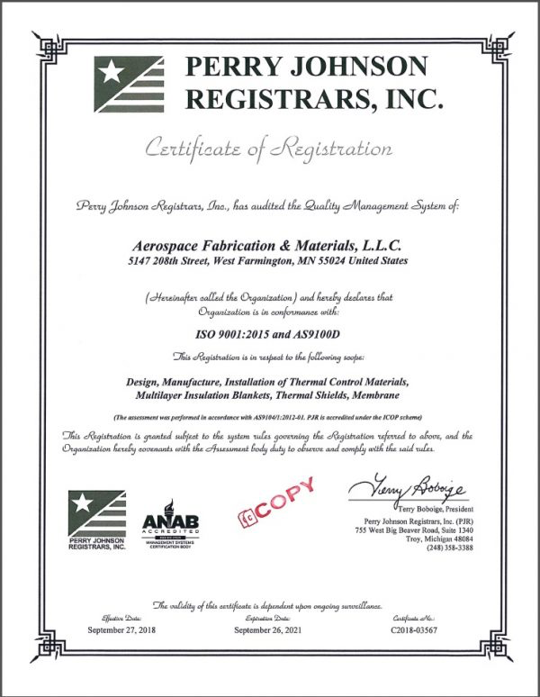 certificate of regristrations