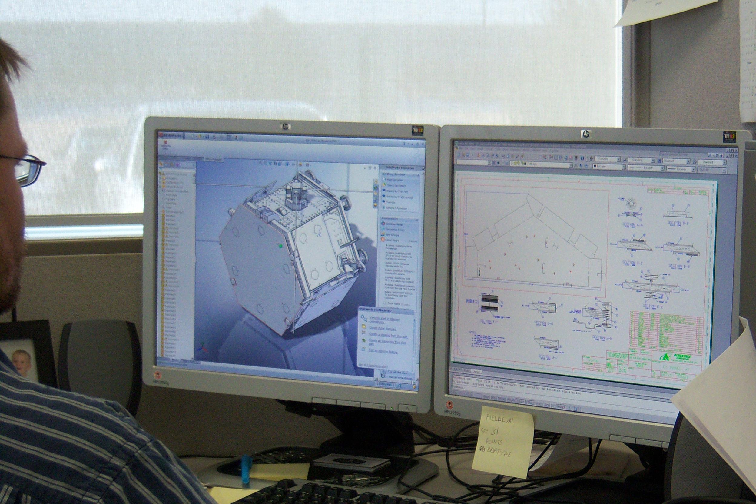 CNC cutting on computer