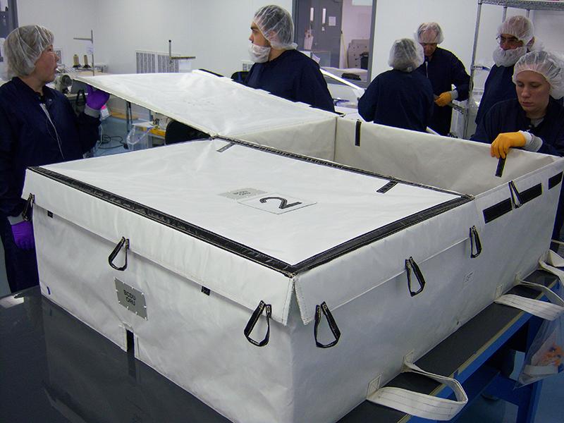 cleanroom at aerospace fabrication