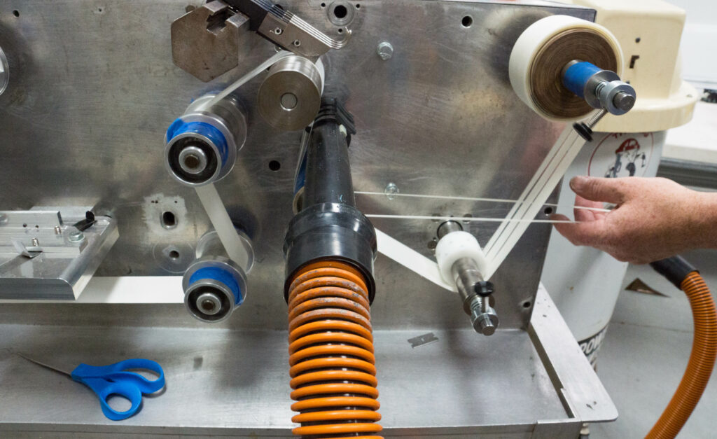 fabrication machinery in use